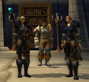 A quick stop in Stormwind to take a picture with their early mentor